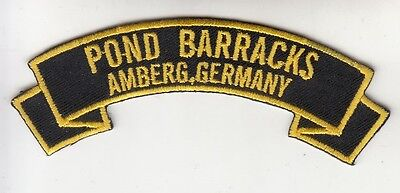 COLD WAR Pond Barracks,Amberg Germany embroidered patch