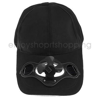 Outdoor Sports Fishing Baseball Golf Unisex Solar Power Soft Cooling Fan Hat Cap