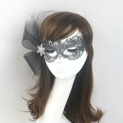 Vintage Women Lace Mesh Crystal Eye Mask Masquerade Halloween Party Costume