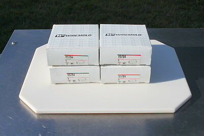 One box of (5) Wiremold V5784 Ivory Elbow Conduit Connector Lot #345