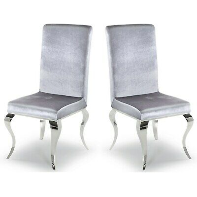 Wilkinson Furniture Pair of Louis Silver Dining Chairs  Lui-111-SL