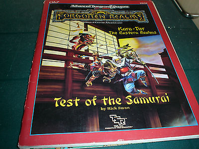 AD&D 2nd EDITION FORGOTTEN REALMS TEST OF THE SAMURAI TSR 1989 (9258) RICK SWAN