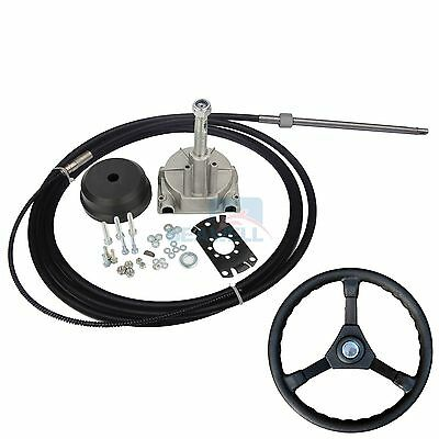 12FT Outboard Single Turbine Rotating Mechanical Steering System Cable & Wheel