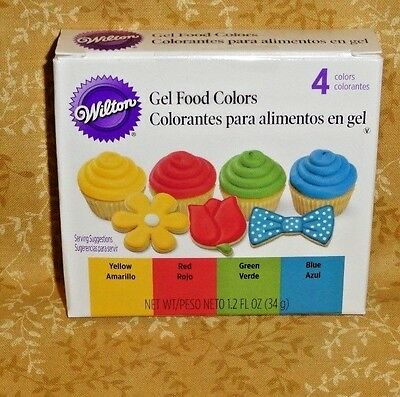 Primary Edible Gel Food Coloring,Icing Color,Wilton,601-5581,4 Pack,Multi-Color