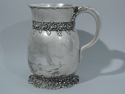 Tiffany Water Pitcher - 11455 - Antique Nautical - American Sterling Silver
