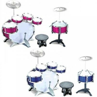 Childrens Kids 27Pc Rock Drum Kit Cymbal Music Percussion Playset Stool Toy Gift