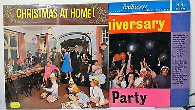 Christmas At Home+Anniversary Party~Embassy~Wlp  6036~Wlp 6007~Uk  Vinyl 2Lp