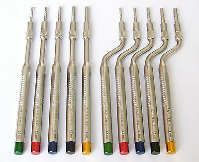 Sinus Lift Osteotomes Kit Straight Off Set Convex Dental Implant Instrument CE