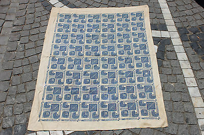 Antique Original Perfect Handmade Arabian  Palestine Cotton And Silk Textile