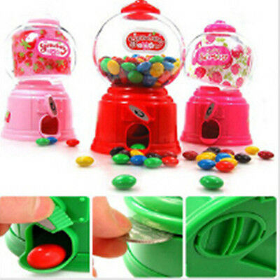 Xmas Candy Dispenser Machine Gumball Gum Ball Snacks Coin Storage Box Gift