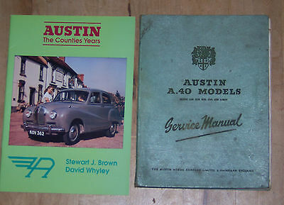 Two Books Austin A40 Service Manual & Austin The Counties Years