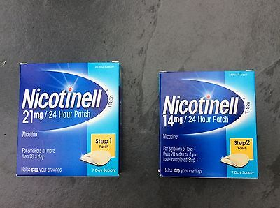 NICOTINELL Nicotine Patches 24 Hour Patch-Step 1 TTS30 21mg / Step 2 TTS20 14mg