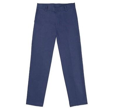 George Boys School Uniforms Flat Front Dark Navy Pants; Many Sizes!!