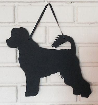 Portuguese Water Dog Handmade Chalkboard Shadow Blackboard w/chalk & Eraser