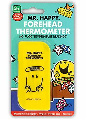 MR HAPPY Forehead Thermometer | Travel Pack | Reusable & No Fuss | FREE POSTAGE