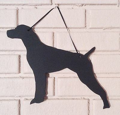 German Short haired Handmade Chalkboard w/chalk & Eraser Dog Blackboard Handmade