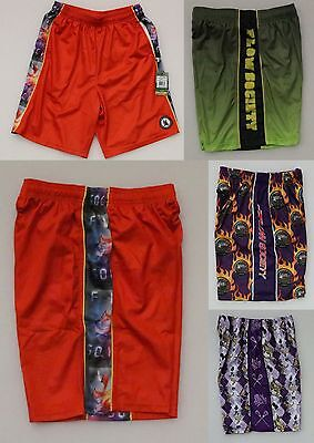 Flow Society Men's Lacrosse Athletic Shorts Elastic Waist With Drawstring New