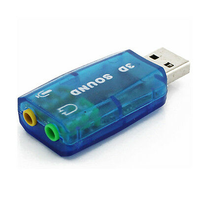 Good 5.1 USB to 3.5mm headphone Jack Stereo Headset 3D Sound Card Audio Adapter