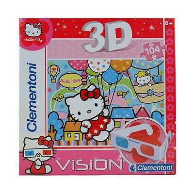 Clementoni Puzzle 3D Magic Hello Kitty 104 piéces