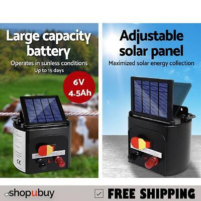 Solar Power 3Km Electric Fence Farm Animal Pet Energiser Energizer Charger 0.1J