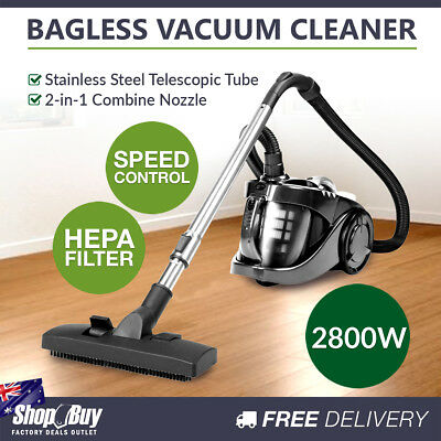 Bagless Cyclone Cyclonic Vacuum 2800W HEPA Filter Filtration Cleaner System