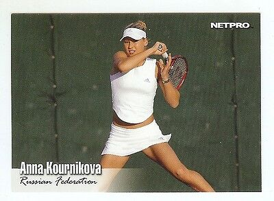 (26) ANNA KOURNIKOVA 2003 NetPro Tennis ROOKIE Card RC LOT
