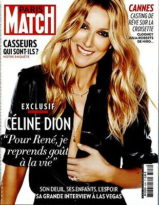 Celine Dion New French Paris Match Magazine France May 2016 Mag Encore Un Soir