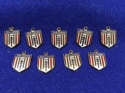 Lot of 9 1970's Vintage US Department of Labor Job Corps Charms