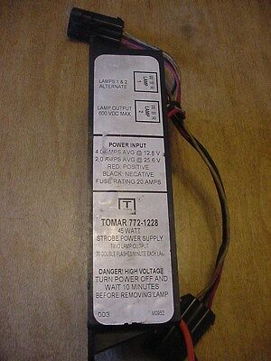 Tomar Power Supply 2 outlet Strobes Tested Guaranteed 772-1228