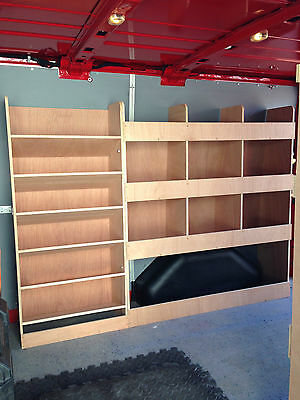 Ford Transit SWB Driver Side Plywood Racking System - Drill / Service Case
