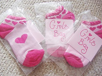 3 Pairs Of Girls Pink Trainer Liners In Shoe Size 9-12/27-30 Eu Bnwt
