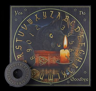 Soothsayer Board with Cat - The Witching Hour - Witchboard Quija Witch