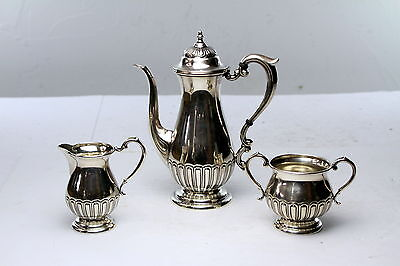 Antique Manchester  Sterling Silver Tea set  Teapot and Sugar and creamer