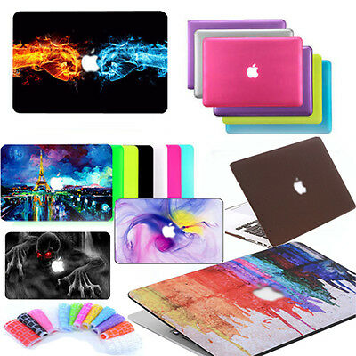 "Rubberized Hard Case + Keyboard Cover For Apple MacBook Air 11"" 13"" Pro 13 inch"