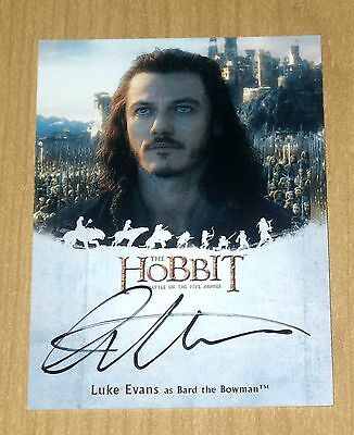 2016 Cryptozoic Hobbit Battle 5 Five Armies on-card autograph Luke Evans as BARD