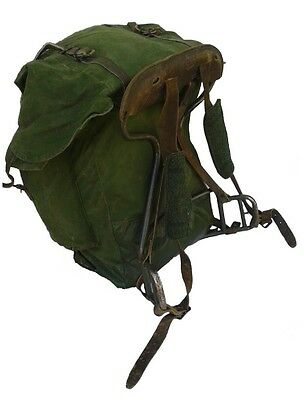 Authentic 1960s Swedish army backpack rucksack bag military steel frame mountain