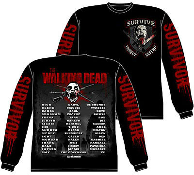 Official The Walking Dead Survivor Us And The Dead Zombies Long Sleeve Shirt