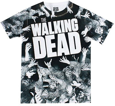 Official The Walking Dead Walker Mosh Pit Dye Sublimated Adult Zombies T-Shirt