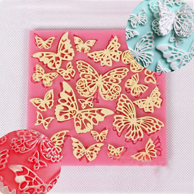Butterfly Lace Fondant Mould Silicone Cake Decorating Mold Bake Icing Sugarcraft