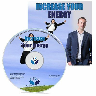 Increase Your Energy Hypnosis CD + FREE MP3 VERSION feel more energized