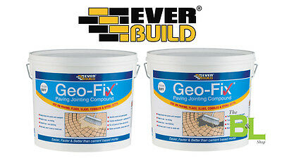 Everbuild Geofix Paving Jointing Compound | Buff or Grey | Stone Patio | 20KG