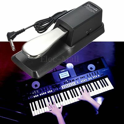 Universal Metal Sustain Pedal Cable Foot Switch for Keyboard Electronic Piano