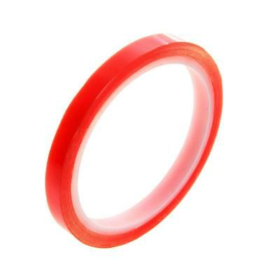 1cm x 10M Clear Double Sided Adhesive PET Red Film Tape Super Sticky