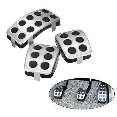 3 Pcs/Set Aluminum Car Auto Pedal Pads Cover Replacement For Ford Focus RS 05-09