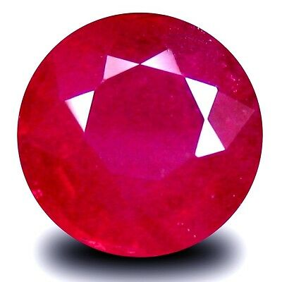 NATURAL EXCELLENT PINKISH RED RUBY LOOSE GEMSTONES (PAIR) ROUND CUT (5.1 mm)