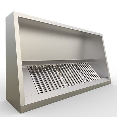 Commercial Kitchen Canopy 1800mm Length (6 Foot)