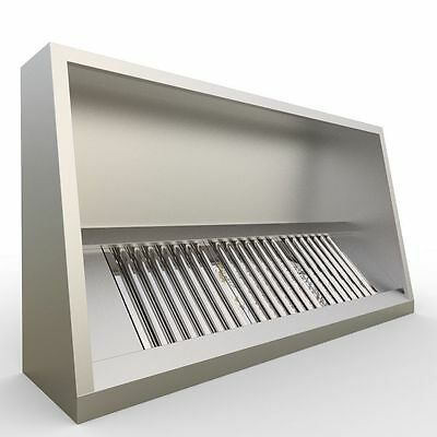 Commercial Kitchen 8 Foot Canopy Hood 2480mm