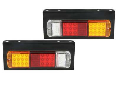Tray Back Ute Trailer 12V LED 4 Function Stop Tail Lights Set Hilux Triton Rodeo
