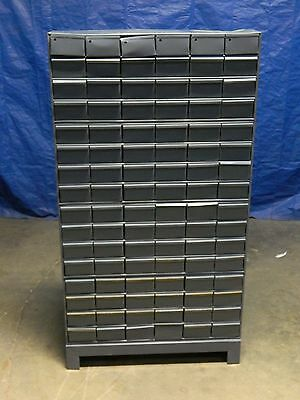 "Durham 022-95 Bin Storage Cabinet 96 Drawer 62"" x 34"" x 12"" Steel Gray"