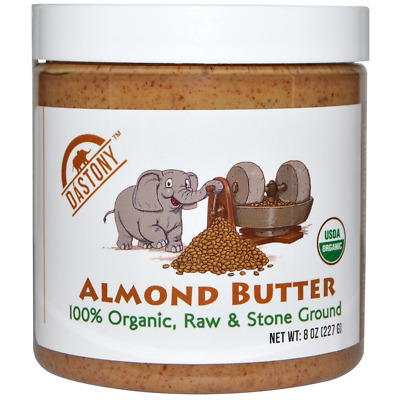 New Dastony 100% Organic Almond Butter Raw Stone Ground Smooth Non Gmo Bpa Free